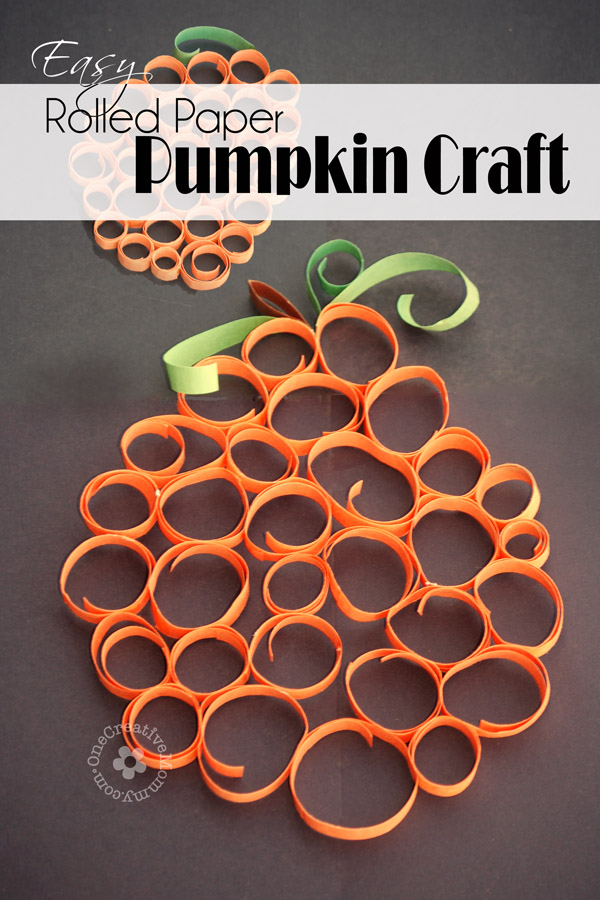 Rolled Paper Pumpkin: 10 Kid Friendly Thanksgiving Activities | Cheap Is The New Classy