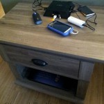 Repurposing a night stand as a DIY charging station