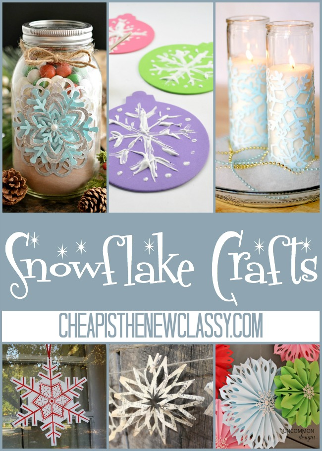 10 Snowflake Crafts and Ornaments | Cheap Is The New Classy