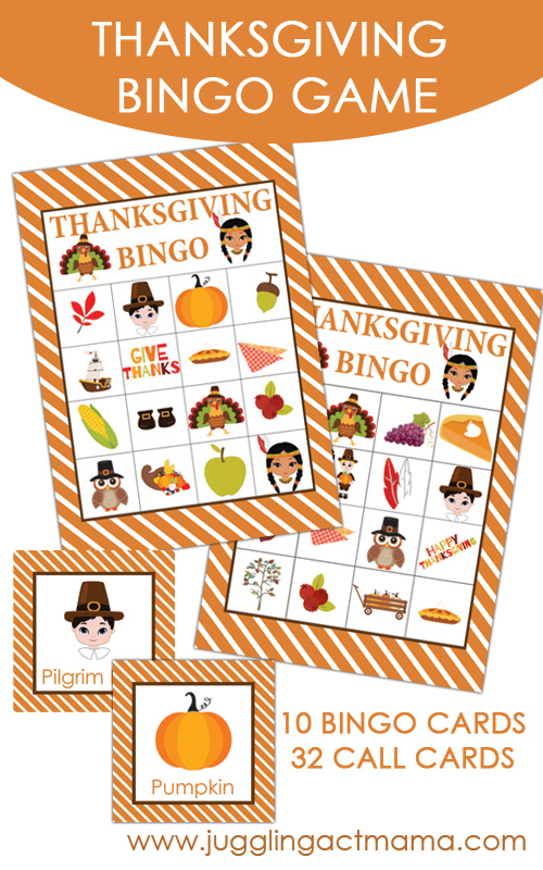 Thanksgiving Bingo Game: 10 Kid Friendly Thanksgiving Activities | Cheap Is The New Classy