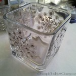 Easy & Frugal DIY Snowflake Votives