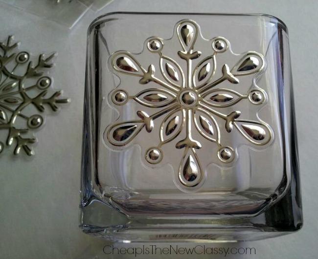 Easy & Frugal DIY Snowflake Votives