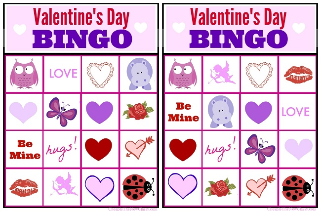 Valentines Day Ideas: Valentine Bingo Game Printable For Kids