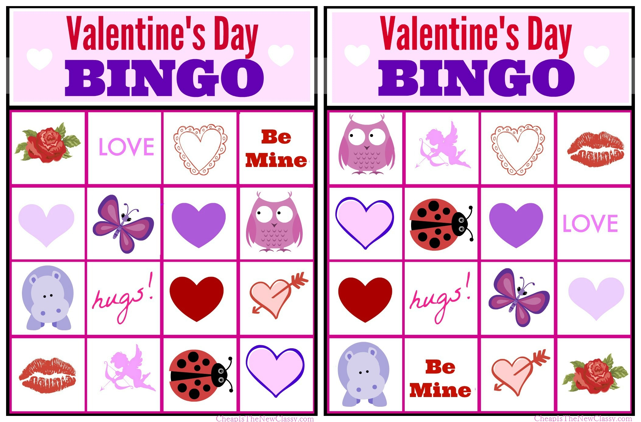 picture relating to Printable Valentine Bingo Cards named No cost Valentine Bingo Recreation Printable Range For Little ones