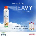 Save $2 on St. Ives® Fresh Hydration Lotion Sprays at Walgreens #ad #StIvesSprays