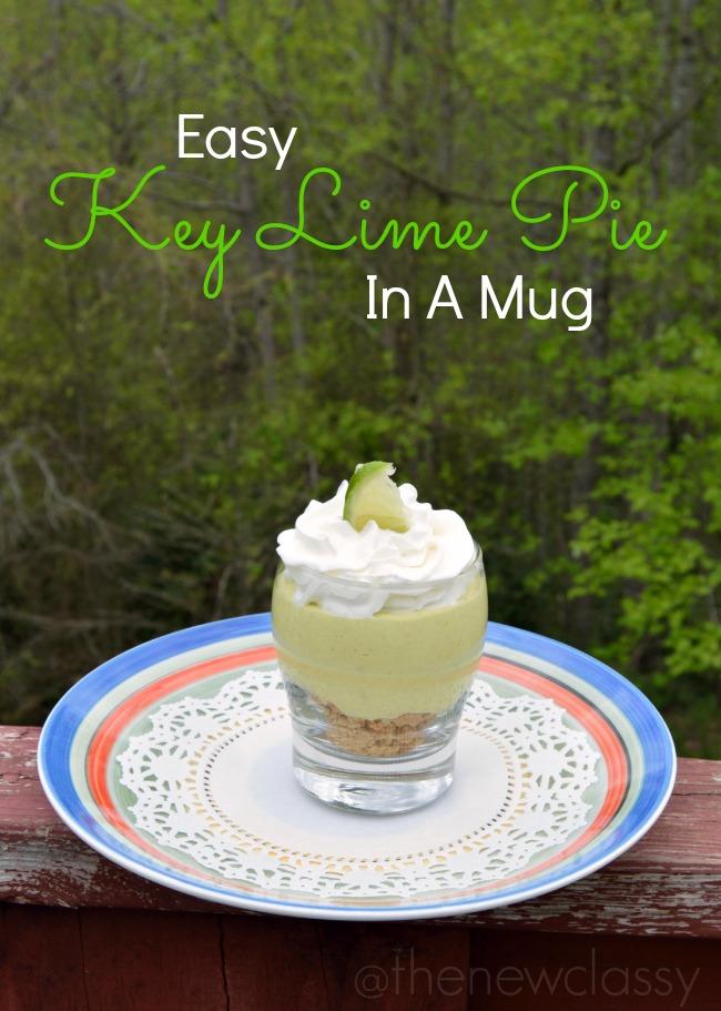 Easy Key Lime Pie Recipe In A Mug #ad #YogurtPerfection