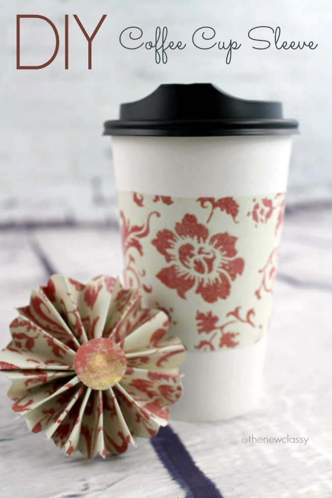 Easy And Cute DIY Coffee Cup Sleeve Tutorial