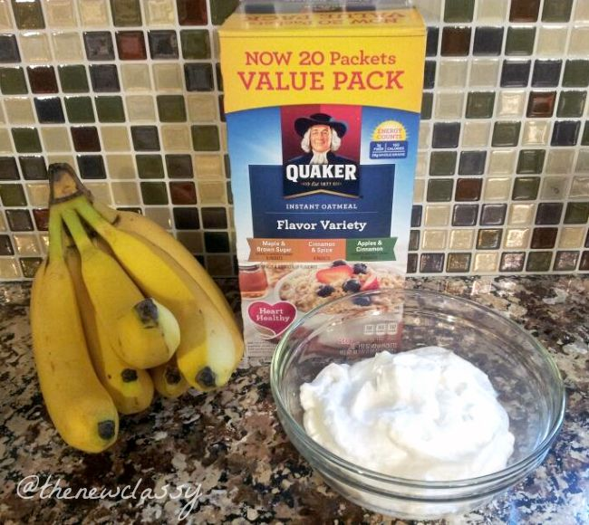 Cinnamon Brown Sugar Oatmeal Banana Smoothie Recipe #cbias #ad #QuakerTime