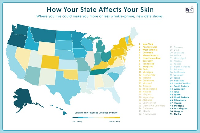 What Is Your State's Wrinkle Ranking? #IC #ad #RoCWrinkleRanking