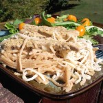 Tomato Alfredo Recipe with Lightly Seasoned Strips #FutureofProtein #sponsored