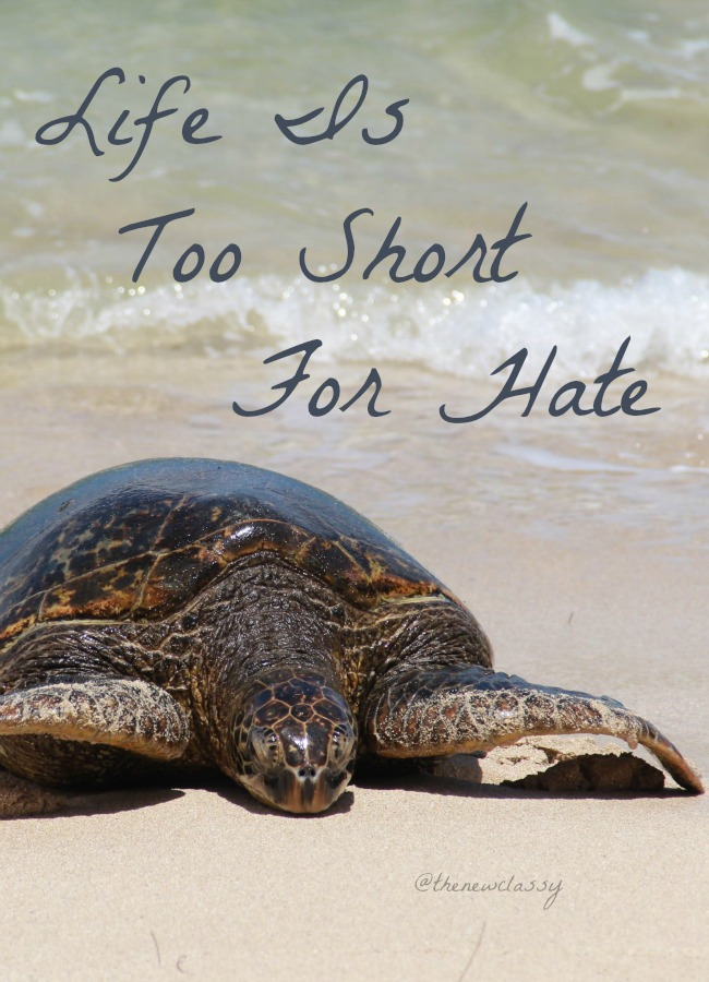 Life Is Too Short For Hate
