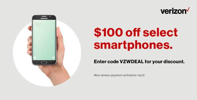 Save $100 off Select Verizon Smartphones #ad #verizonwirelessoffer