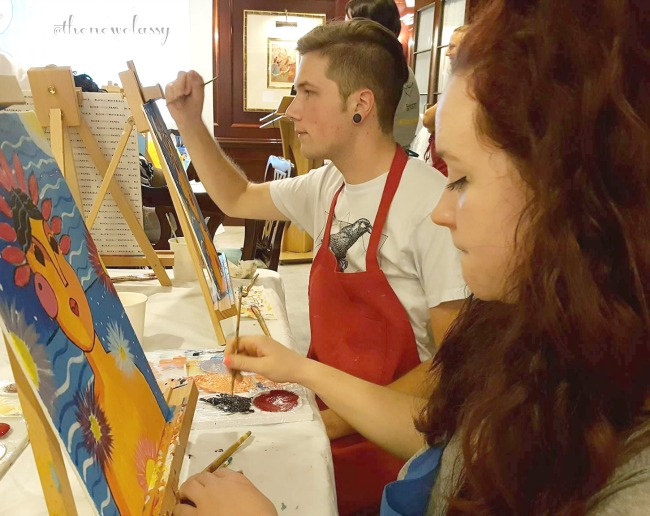 Our Wine And Paint Class Adventure On The Caribbean Sea #sponsored #TravelDeep
