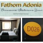 Fathom Adonia Oceanview Stateroom Tour #traveldeep AD