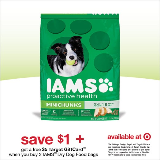 Save $1/1 IAMS Dry Dog Food + Buy 2 And Get $5 Target GC #IamsDogOffer AD