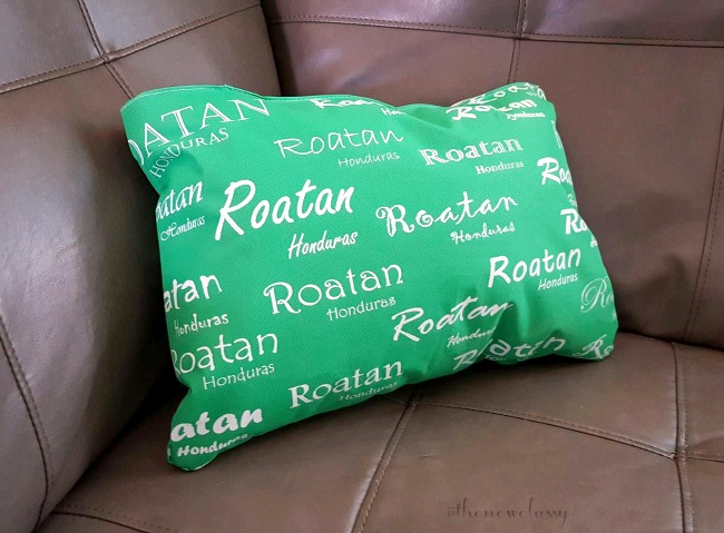 Easy DIY Throw Pillow Made From A Souvenir Tote In Just Minutes
