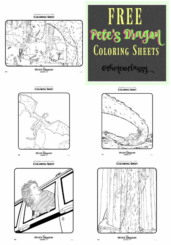 Free Pete's Dragon Coloring Sheets #PetesDragon #BehindTheWings
