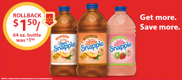 Cool Down & Save Money With A #SnappleRollback - Only $1.50 At Walmart! #ad