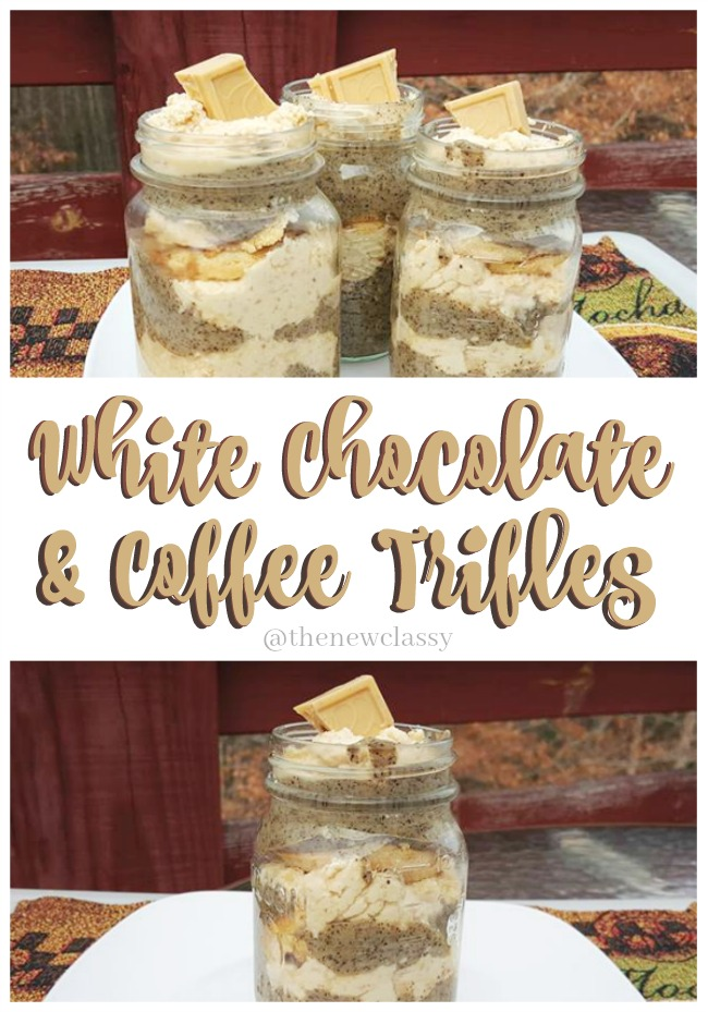 White Chocolate & Coffee Trifle Recipe #ad #FreyHoliday #ChocolatFrey