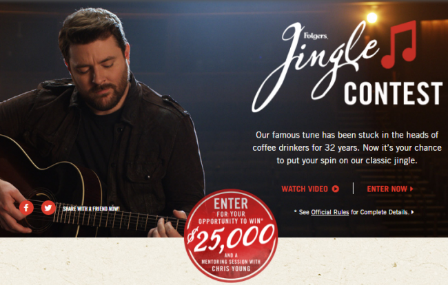 Folgers Jingle Contest: Enter And You Could Win Up To $25,000