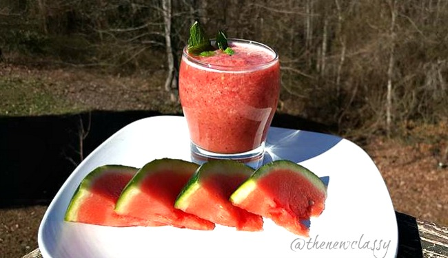 Minty Watermelon Smoothie Recipe