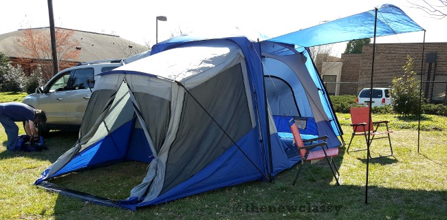 Vehicle Camping With The Sportz SUV Tent Model 84000 #NapierNation #SportzSUVTent #ad