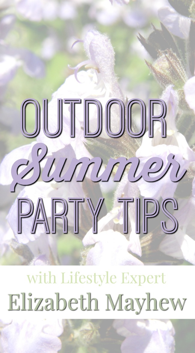 Interview: Outdoor Summer Party Tips From Lifestyle Expert Elizabeth Mayhew [sponsored]