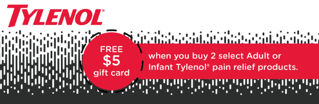 #Ad Free $5 Gift Card When You Buy Tylenol At Target 5/14-5/20