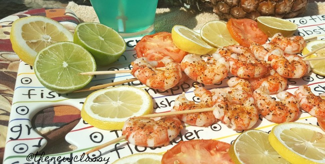 Tailgate Grilled Lemon Garlic Shrimp Kabobs #SaveALotInsiders #SwitchAndSave #ad