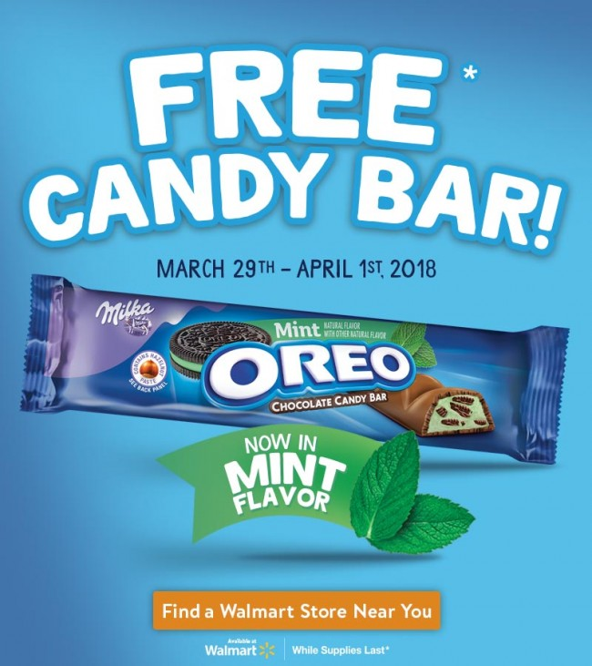 Get A Free OREO Mint Chocolate Candy Bar 3/29-4/1 #OREOChocolate
