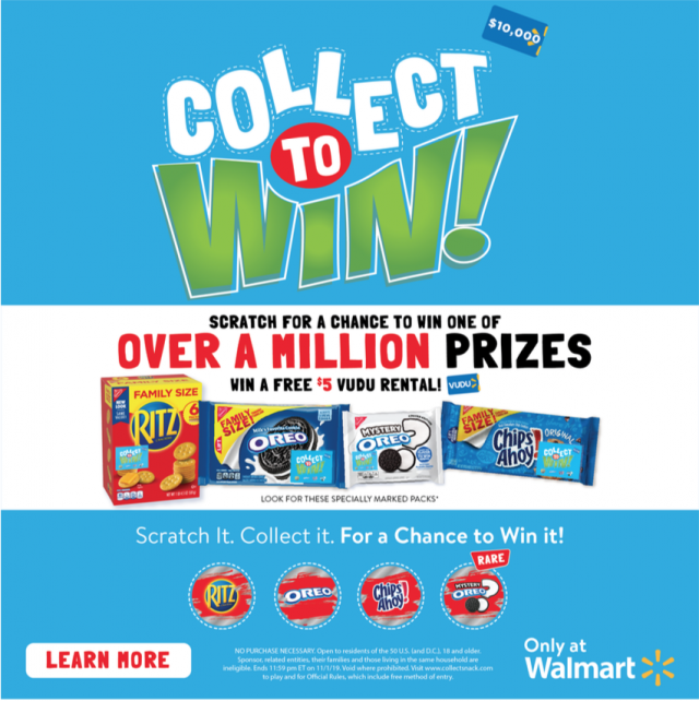 Collect To Win At Walmart & You Could Win A $10,000 Gift Card!