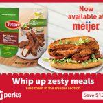 Save $1.25/1 Tyson Blackened Chicken Strips At Meijer