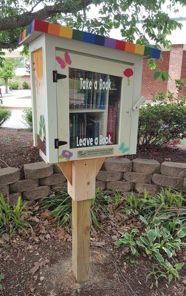 donate used books at little free library